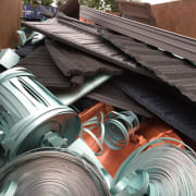 Metrotile roofing - iron | metal | pipe iron, metal, pipe, steel, wire, gray, black