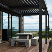 There are a variety of covered verandas and