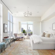 New York apartments are often small and ill-lit. white