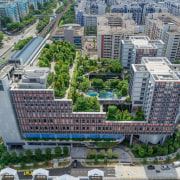 Kampung Admiralty 2 - aerial photography | bird's aerial photography, bird's eye view, building, city, cityscape, condominium, metropolis, metropolitan area, mixed use, neighbourhood, real estate, residential area, skyscraper, suburb, tower block, urban area, urban design, gray