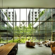 Kampung Admiralty 8 - apartment | architecture | apartment, architecture, condominium, daylighting, house, interior design, lobby, mixed use, window, brown, green
