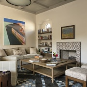 The family room in the beach house. -