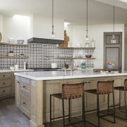 The classically styled kitchen. - California by the