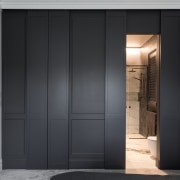 Wall and door panelling creates a classic look