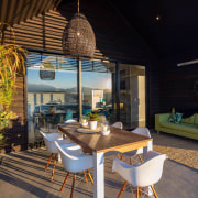 The outdoor room is a sheltered space with