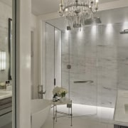 The master bathroom in the Regent park home