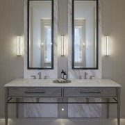 Marble plays a prominent role in the home's