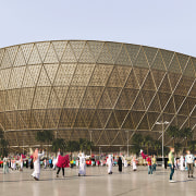 New look at Foster + Partners Lusail Stadium architecture, arena, building, landmark, sport venue, stadium, structure, white