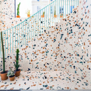The Maison Kitsuné showroom in Paris is filled recreation, wall, white