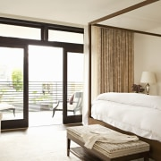 The master bedroom is also a balance of