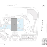 Master Layout Plan 总图 - design | diagram design, diagram, drawing, font, line, plan, technical drawing, text, white
