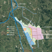 The masterplan for the wetland and surrounds.