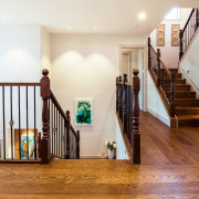 ​​​​​​​Natural wood floors are a stand-out feature of floor, flooring, handrail, hardwood, home, house, interior design, living room, , stairs, wood flooring, Chancellor Construction, Timber Floor Solutions