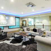 ​​​​​​​As well as a Bang & Olufsen entertainment interior design, living room, real estate, Chancellor Construction, Bang & Olufsen,