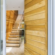 ​​​​​​​A timber front door provides an early touch architecture, home, house, interior design, wood, Timber, stairway, Giles & Tribe Architecture, Mark Broadley