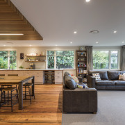 ​​​​​​​While this renovation by designer Jason Higham stayed flooring, house, interior design, living room, Open Plan living, Norman Ellison Carpet, Higham Architecture