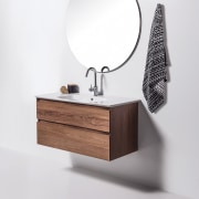This pared-back Soft 1000 Wall-Hung Vanity is from bathroom, bathroom accessory, bathroom cabinet, bathroom sink, drawer, furniture, plumbing fixture, product, sink, tap, white