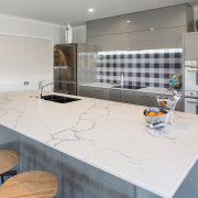 Designed by Kim Primrose of Mastercraft Kitchens Pukekohe, countertop, cuisine classique, floor, interior design, kitchen, real estate, room, gray, white