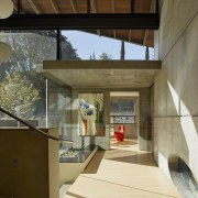 ​​​​​​​The 38cm-thick concrete walls in this home are architecture, house, home, interior design, heat retention, concrete, entranceway, heating, cooling, FuTung Chen,  Chen Design