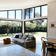 ​​​​​​​On this renovation and extension project by Porter architecture, home, house, interior design, living room, bifold window, white, Porter Architecture