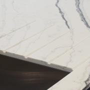 Strategic grooves in this Bianco Molasa Smartstone benchtop Smartstone, engineered stone,  kitchen,  benchtop Bianco Molasa