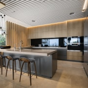 Complete with a concrete countertop, this kitchen is architecture, benchtop, house, interior design, kitchen, concrete, timber, SAOTA