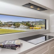 ​​​​​​​Even the kitchen splashback doubles as a panoramic home, interior design, kitchen, landmark homes,  showhome, new home, kitchen splashback