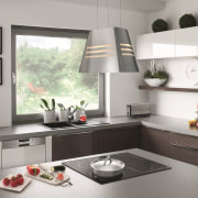 When it comes to practical, energy- and time-saving building, cabinetry, countertop, floor, flooring, furniture, home, home appliance, house, interior design, kitchen, kitchen stove, material property, property, room, small appliance, table, tile, white, gray