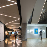 Walk this way – the zigs and zags architecture, ceiling, daylighting, interior design, lobby, tourist attraction, gray, black