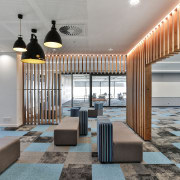 When in doubt, look down – colour-coded, area-specific architecture, floor, flooring, furniture, interior design, table, gray