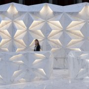 Almost everything is a sculptural event in the arctic, freezing, ice, snow, structure, white, winter, gray