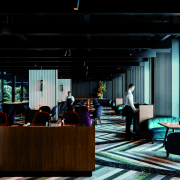 The restaurant at West Hotel offers casual dining architecture, interior design, black