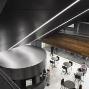 The 390m² main cafe on the mezzanine floor architecture, cafe, office fitout, chicago tribune, Eastlake Studios