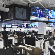 A large ring of 42 monitors in the technology, Chicago Tribune,  monitors, Eastlake Studio, Office