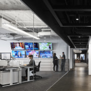 The Chicago Tribune's fourth floor newsroom reflects the technology, eastlake studios,  chicago tribune, news room,  office