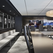 As throughout the new fit-out, the editorial boardroom interior design, Office Fitout, Chicago Tribune, Eastlake Stuidos