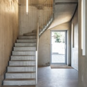 Architects Bjarke Ingels Group kept the material palette architecture, flooring, interior design, stairs, Bjarke Ingels Group, entranceway