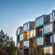 The 66 apartments in Dortheavej were designed by apartment, architecture, building, condominium, facade, home, mixed use, residential, Bjarke Ingels Group