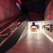 The Hoyts cinema approach to the top-floor Lux interior design, red