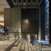 New bluestone step and steel grace the more architecture, building, interior design, lobby, tourist attraction, black