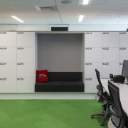 Vidak supplied end-of-trip lockers for the Vodafone head Vidak, lockers, smart technology, vodafone, desking, desks, office furniture