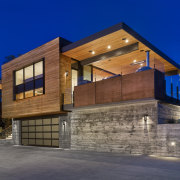 ​​​​​​​Designed by architect Jim Zack, this ridgetop house architecture, home, house, lighting, Jim Zack, cedar, timber
