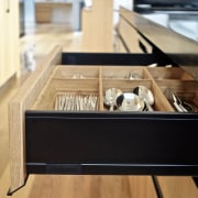 Budget expenditure saved by keeping the kitchen layout cabinetry, drawer, furniture, hardwood, interior design, kitchen, Eliska Lewis Architects
