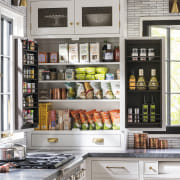 ​​​​​​​Benchtop-to-ceiling cabinetry extends into the corners of this cabinetry, storeage, countertop, floor, furniture, home, house, interior design, pantry, shelf, shelving, Studio Dearborn
