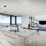 ​​​​​​​An island surrounded by sea – well it apartment, architecture, cabinetry, countertop, design, furniture, interior design, kitchen, Steve Gilosca