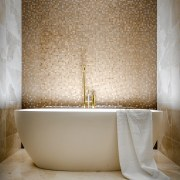 ​​​​​​​Bathed in luxury – large-format marble tile on architecture, bathroom, bathtub, Davinia sutton, marble tiles, ensuite, freestanding tub