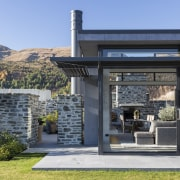 On this home, schist elements are interspersed with architecture, home, house, Koia Architects, Schist, picture windows