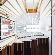 ​​​​​​​View to the top – bronze plated steel architecture, penthouse, building, design, stiarway, interior design, Andrew Wilkinson