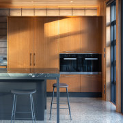 ​​​​​​​The baking area in this kitchen – to architecture, building, cabinetry, ceiling, countertop, cupboard, design, floor, flooring, furniture, hardwood, home, house, interior design, kitchen, material property, plywood, property, room, table, wall, wood, wood stain, brown
