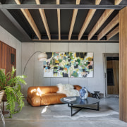 While day-to-day living areas are on the upper gray
